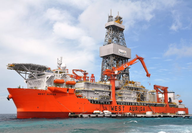 UAC heave compensation accumulator onboard West Auriga drill ship