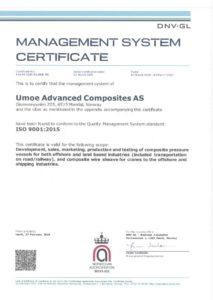DNV -GL: Management System Certificate ISO 9001:2015